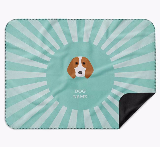 Personalised Rays Blanket for your Beagle