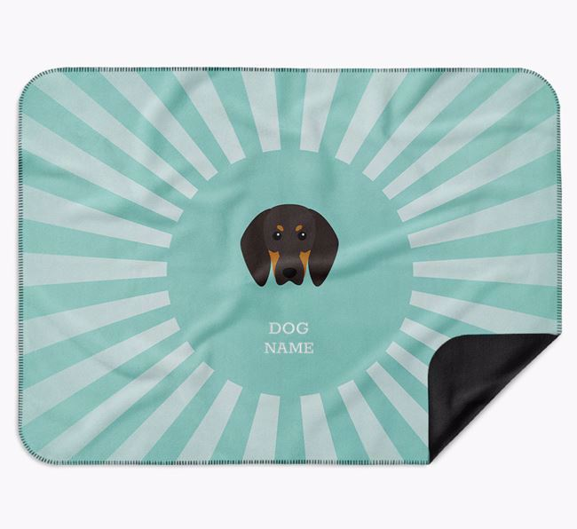 Personalised Rays Blanket for your Black and Tan Coonhound