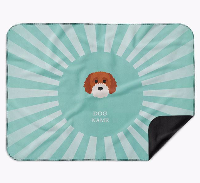 Personalised Rays Blanket for your Cavapoochon