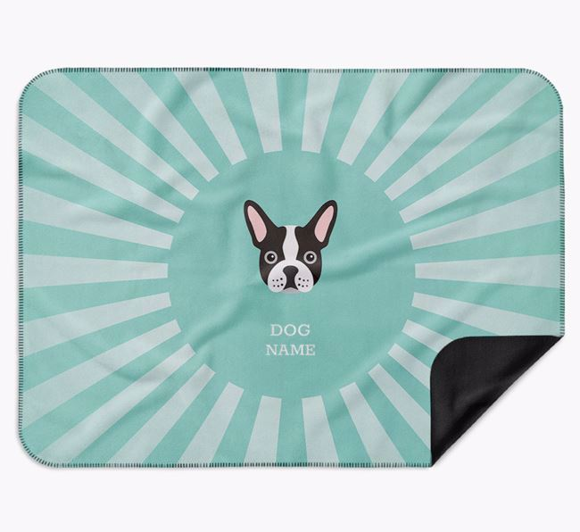 Personalised Rays Blanket for your French Bulldog