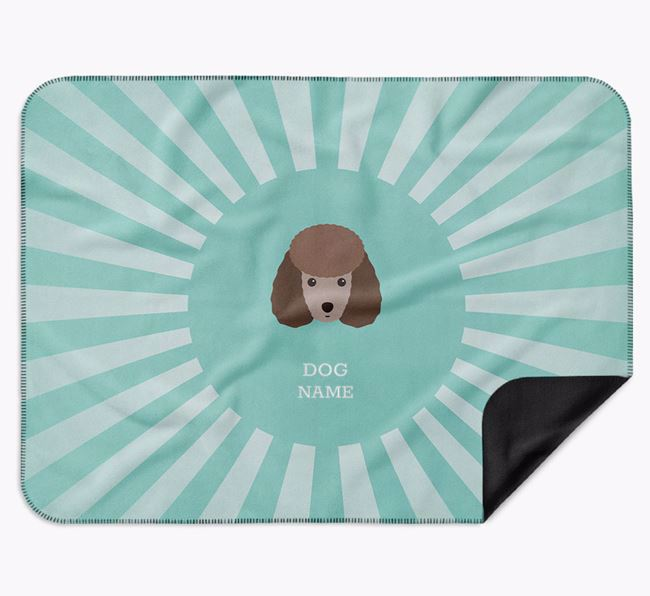 Personalised Rays Blanket for your Miniature Poodle