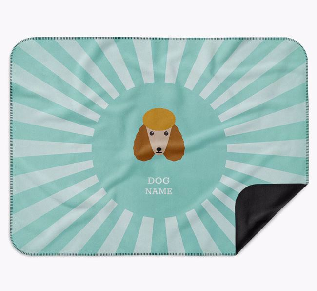 Personalised Rays Blanket for your Poodle