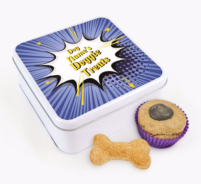 Comic Bang Square Tin for your Kerry Blue Terrier's Treats