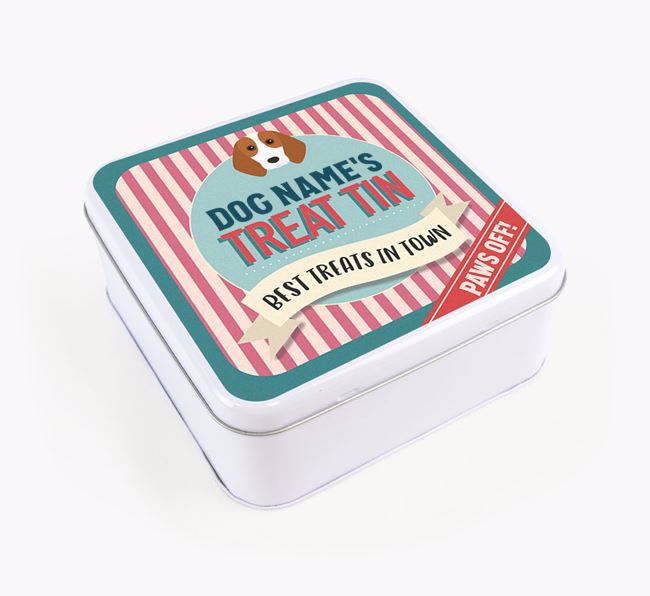 'Best Treats in Town' Square Tin for your Beagle