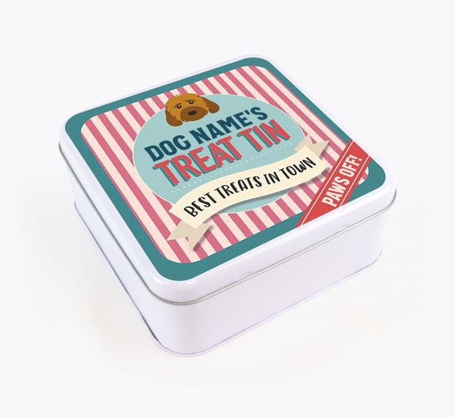 'Best Treats in Town' Square Tin for your Cockapoo