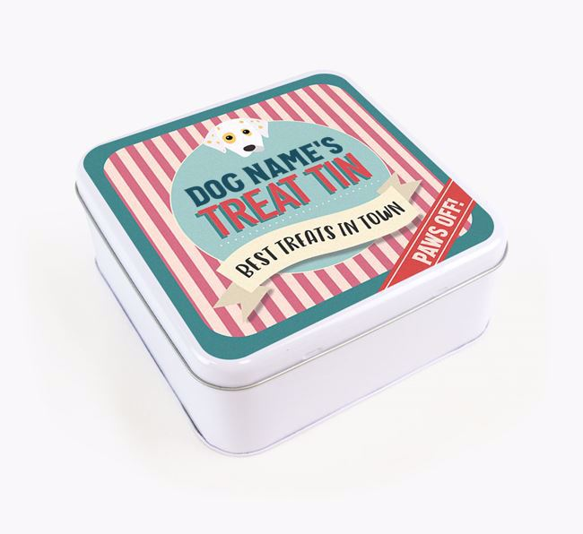 'Best Treats in Town' Square Tin for your Dalmatian
