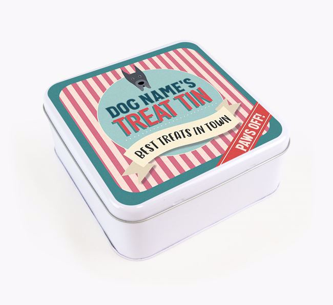 'Best Treats in Town' Square Tin for your Great Dane