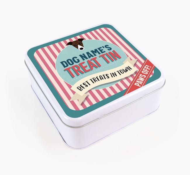 'Best Treats in Town' Square Tin for your Greyhound