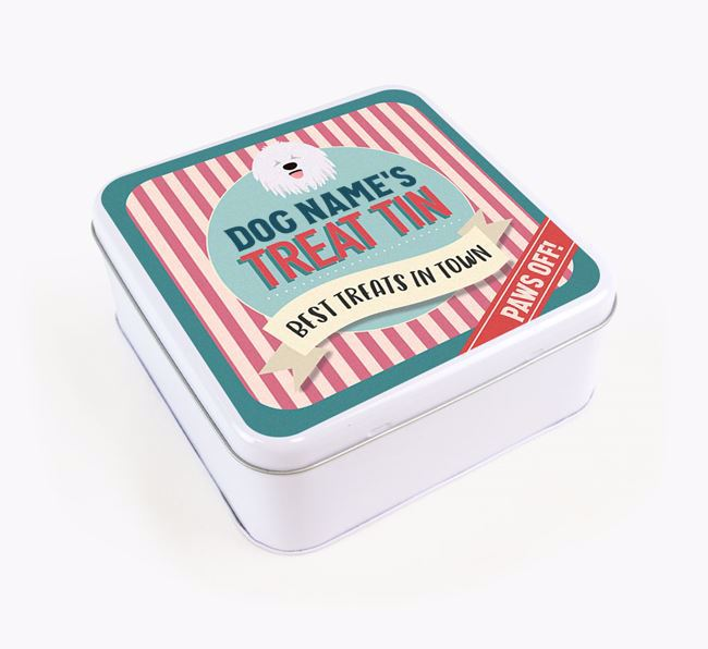 'Best Treats in Town' Square Tin for your Komondor