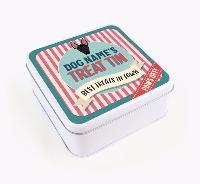 'Best Treats in Town' Square Tin for your Mexican Hairless