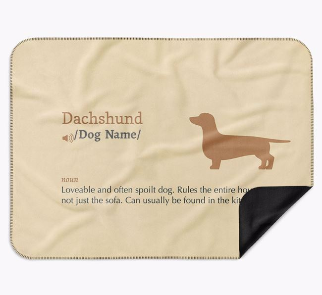 Personalised Definition Blanket with Dachshund Silhouette