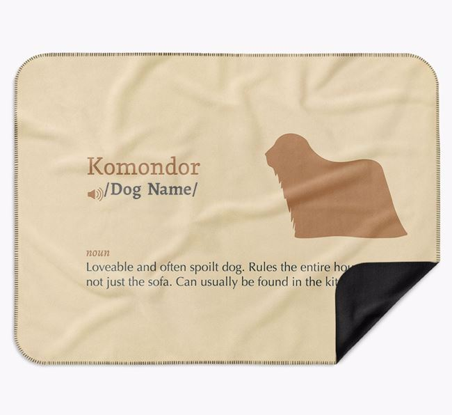 Personalised Definition Blanket with Komondor Silhouette