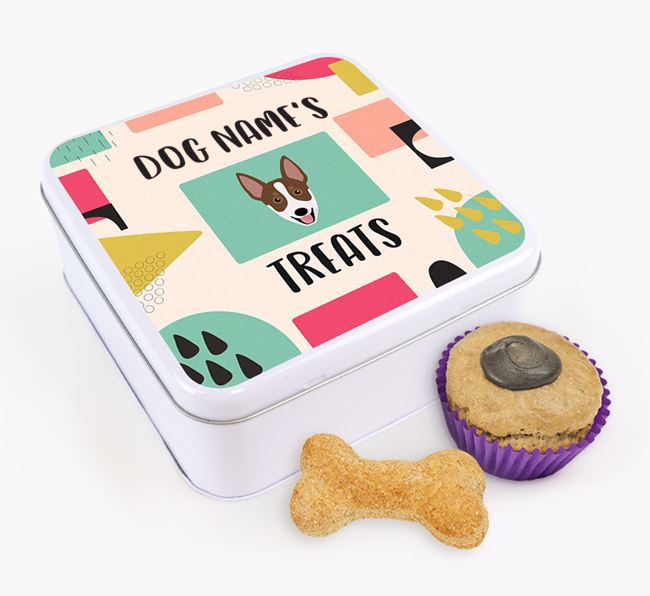 Personalised 'Abstract Design' Square Tin for your Australian Working Kelpie