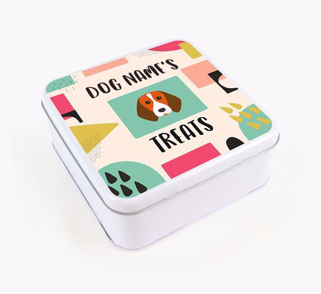 Personalised 'Abstract Design' Square Tin for your Beagle