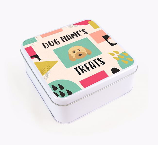 Personalised 'Abstract Design' Square Tin for your Dog