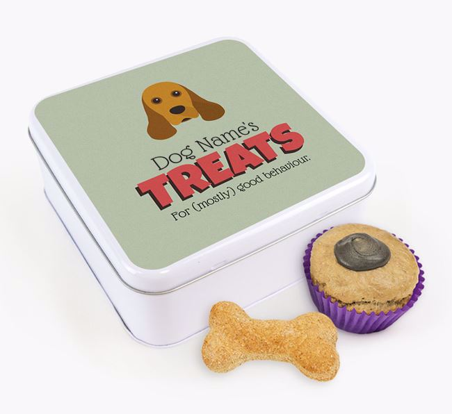 Personalised Retro Design Square Tin for your American Cocker Spaniel