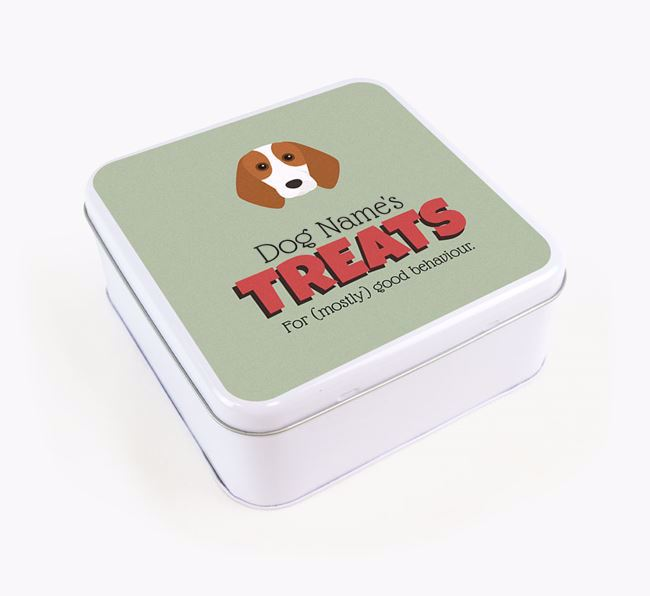 Personalised Retro Design Square Tin for your Beagle