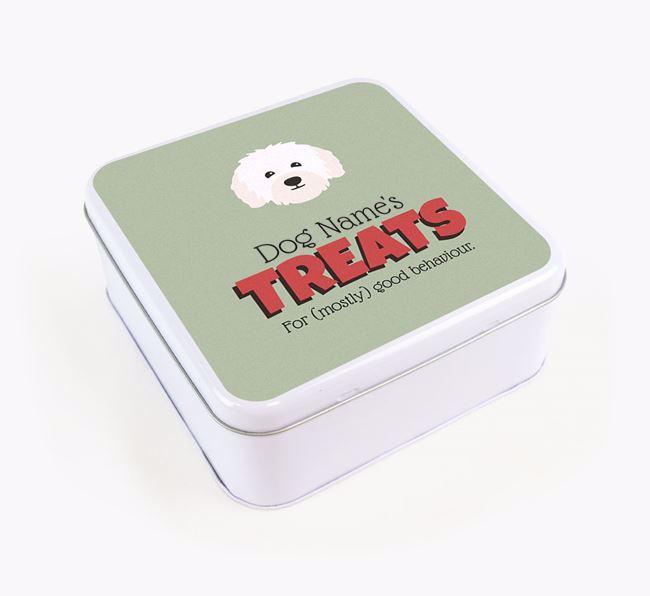 Personalised Retro Design Square Tin for your Bolognese