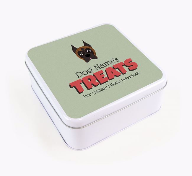 Personalised Retro Design Square Tin for your Boxer
