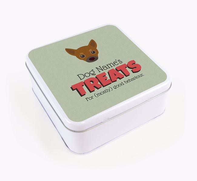 Personalised Retro Design Square Tin for your Chihuahua