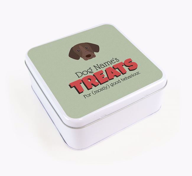 Personalised Retro Design Square Tin for your German Shorthaired Pointer