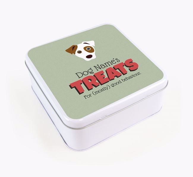 Personalised Retro Design Square Tin for your Dog