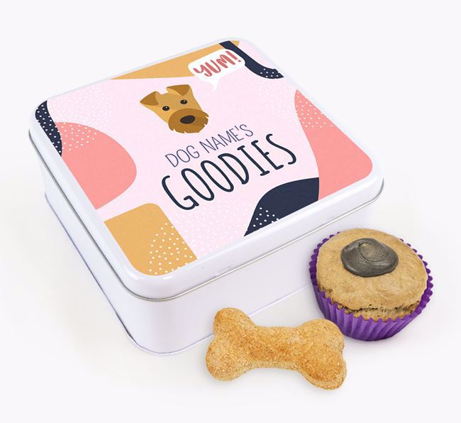 Square Tin for Airedale Terrier's Goodies