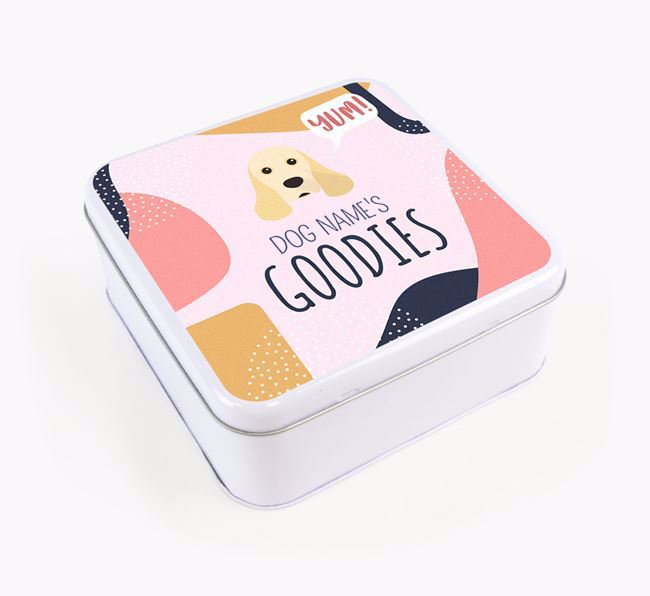 Square Tin for American Cocker Spaniel's Goodies