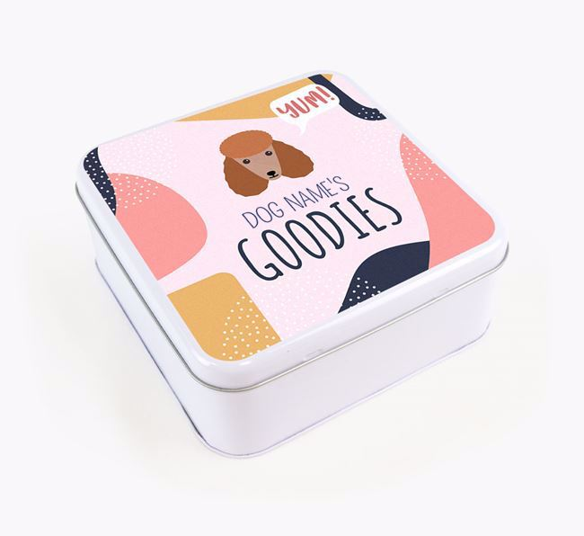 Square Tin for Poodle's Goodies