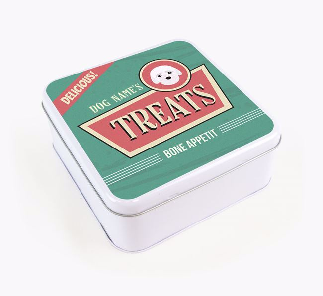 Personalised Retro Square Tin for your Bich-poo