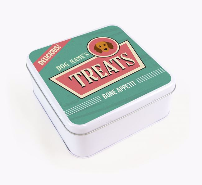 Personalised Retro Square Tin for your Doxiepoo
