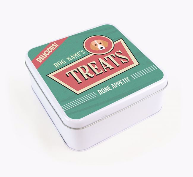 Personalised Retro Square Tin for your Foxhound