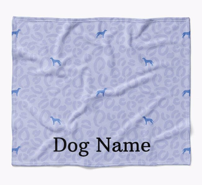Personalized Leopard Print Blue Lacy Blanket