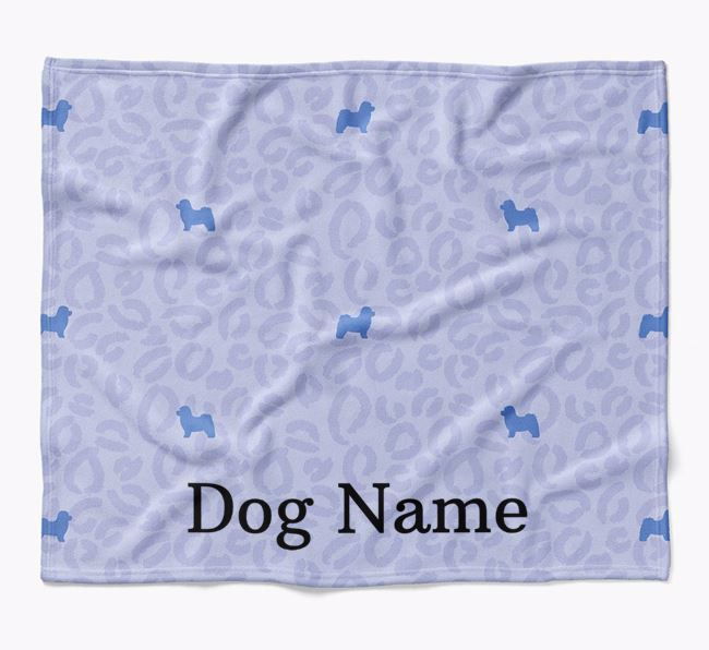 Personalized Leopard Print Bolognese Blanket