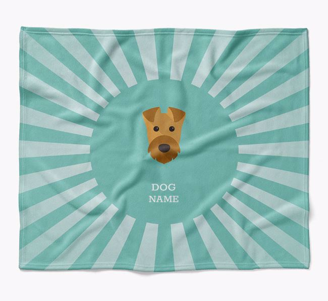 Personalized Rays Blanket for your Airedale Terrier