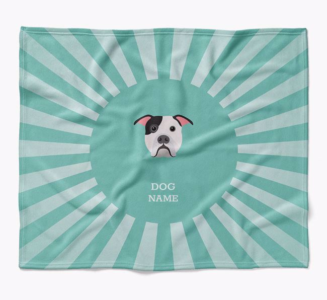 Personalized Rays Blanket for your American Bulldog