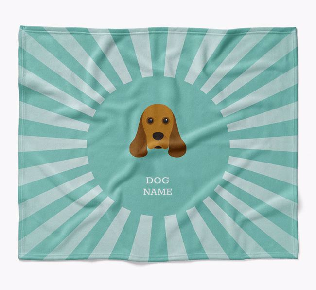 Personalized Rays Blanket for your American Cocker Spaniel