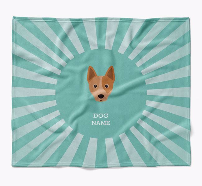 Personalized Rays Blanket for your Australian Cattle Dog