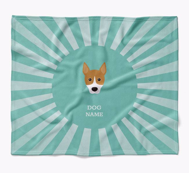 Personalized Rays Blanket for your Basenji