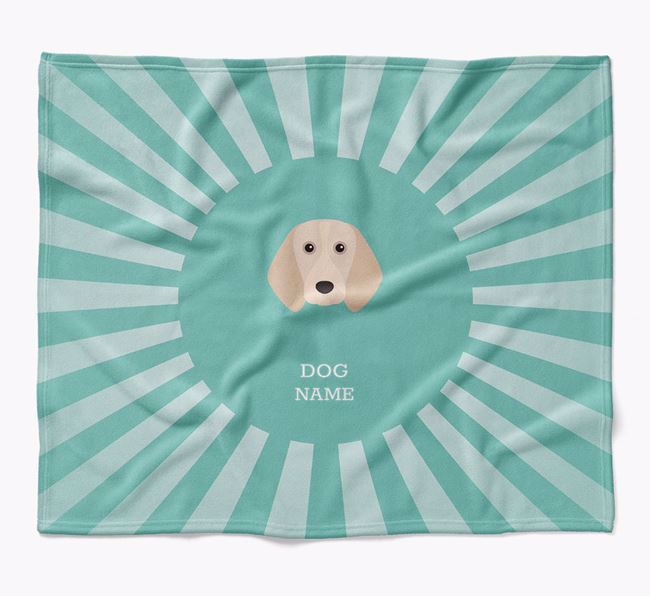 Personalized Rays Blanket for your Beagle