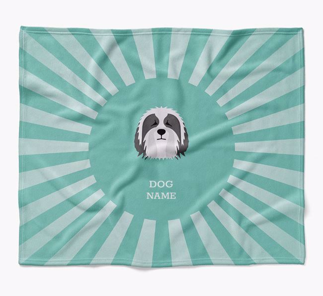 Personalized Rays Blanket for your Bearded Collie