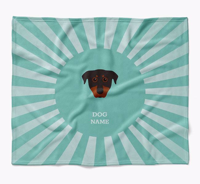 Personalized Rays Blanket for your Beauceron
