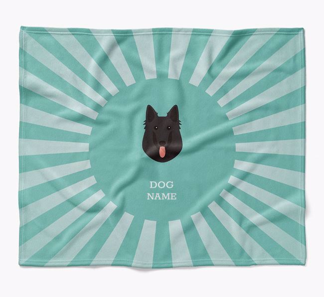 Personalized Rays Blanket for your Belgian Groenendael