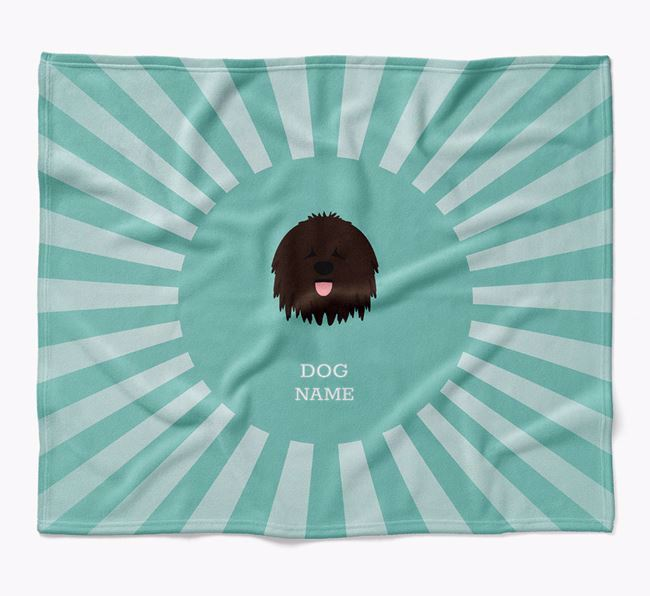 Personalized Rays Blanket for your Bergamasco