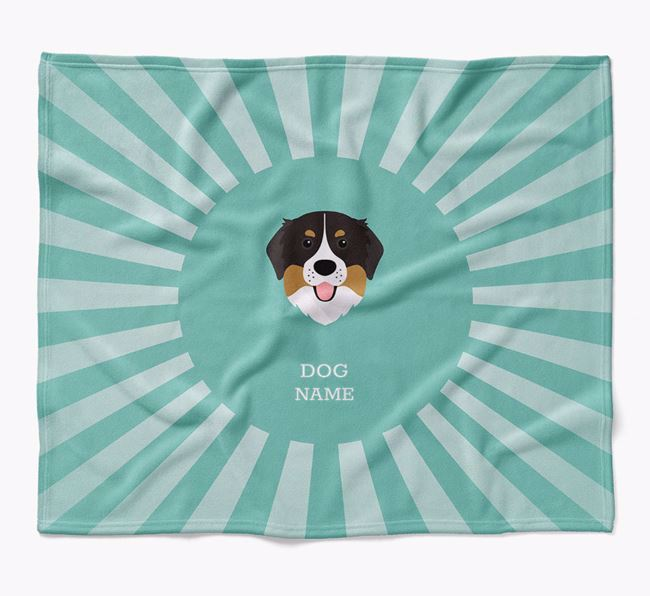 Personalized Rays Blanket for your Bernese Mountain Dog