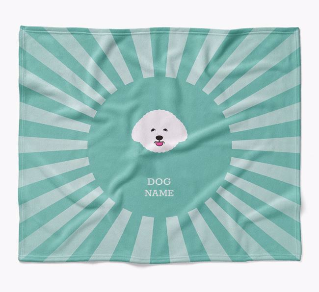 Personalized Rays Blanket for your Bichon Frise