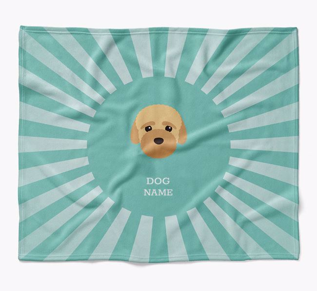 Personalized Rays Blanket for your Bich-poo