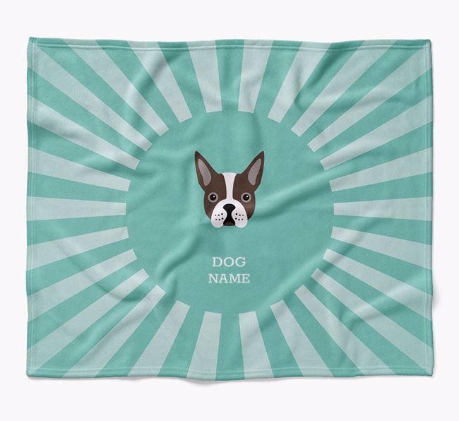 Personalized Rays Blanket for your Boston Terrier