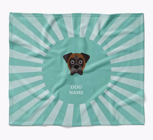 Personalized Rays Blanket for your Boxer