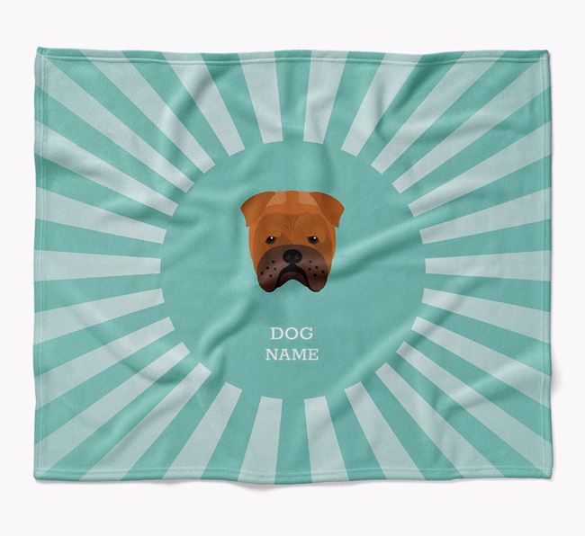 Personalized Rays Blanket for your Bull Pei